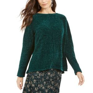 Style & Co Boat Neck Chenille Pullover Sweater